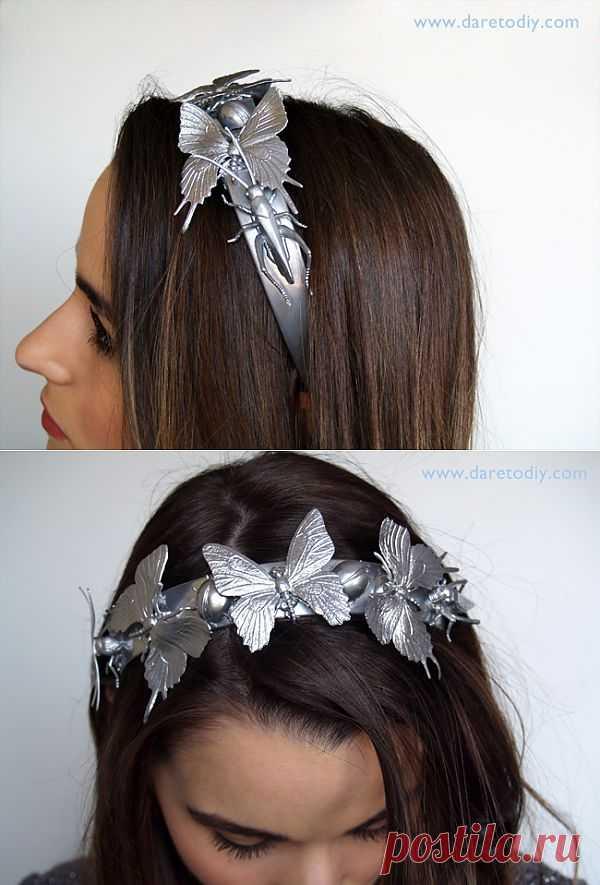 Диадема с насекомыми (DIY) / Украшения для волос / Модный сайт о стильной переделке одежды и интерьера