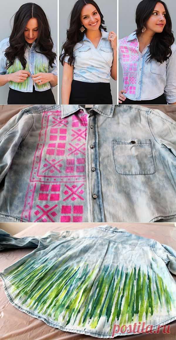 3 окрашенных рубашки (DIY) / Рубашки / Модный сайт о стильной переделке одежды и интерьера