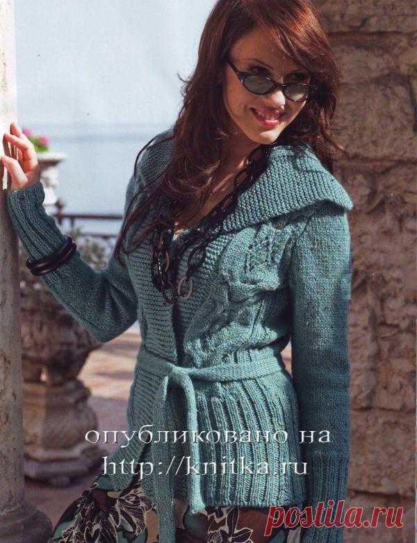 Блоги@Mail.Ru: Вязаный жакет с широкими планками