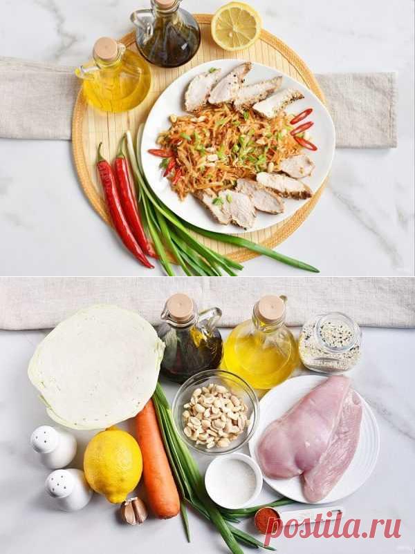 Салат с куриной грудкой и капустой   Вкусные кулинарные рецепты
