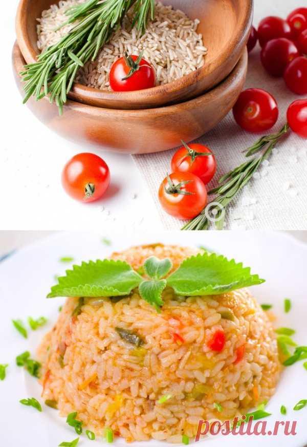 Постные рецепты: рис в томатном соусе (для получения рецепта нажмите 2 раза на картинку)