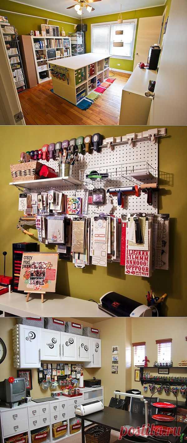 Craft room - рабочие комнаты рукодельниц (часть 4).