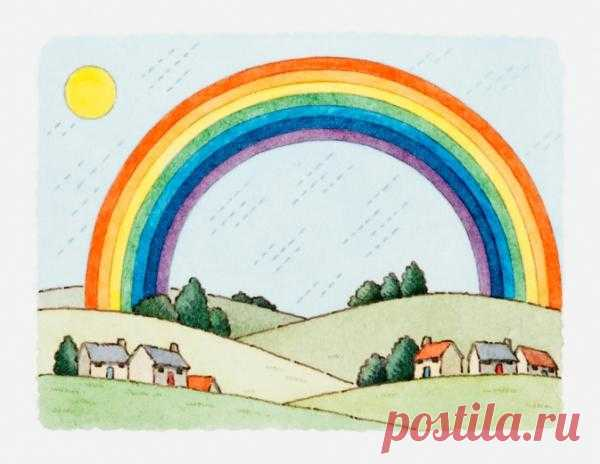 We do a rainbow by the hands!