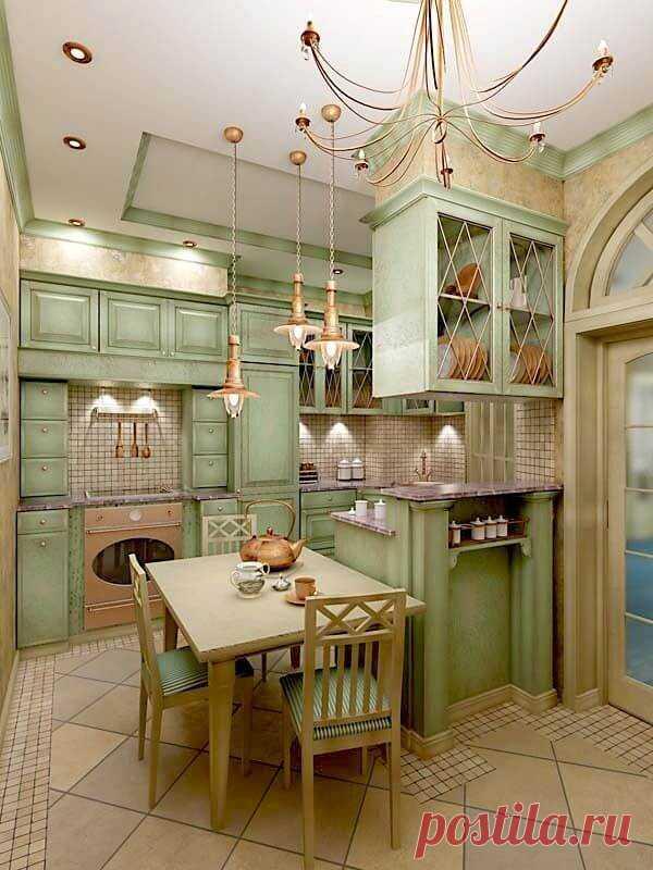 Кухня в стиле прованс: 25 фото идей интерьера ~ ALL-DEKOR