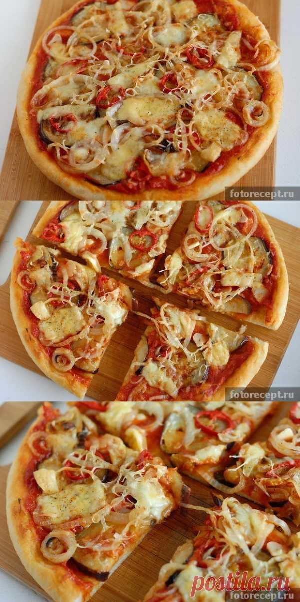 Пицца с баклажанами (для получения рецепта нажмите 2 раза на картинку)