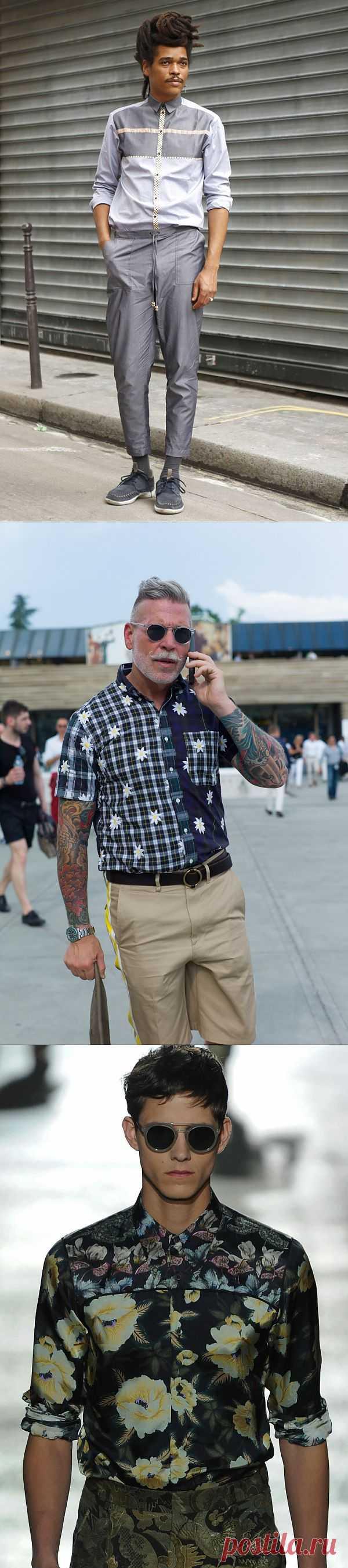 Мужские рубашки из тканей с разным рисунком (подборка) / Мужская мода / Модный сайт о стильной переделке одежды и интерьера