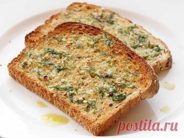 Чесночный тост на завтрак   Веганские рецепты   Яндекс Дзен