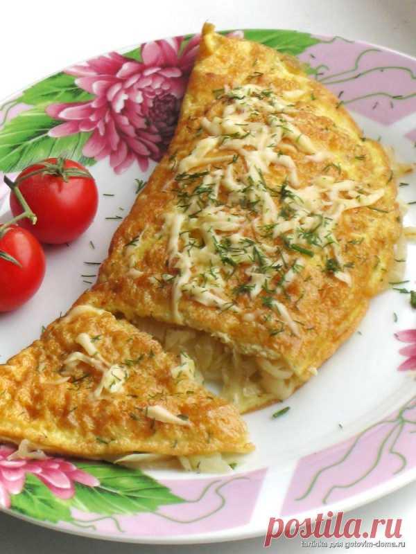Вкуснейший омлет с капустной начинкой (для получения рецепта нажмите 2 раза на картинку)