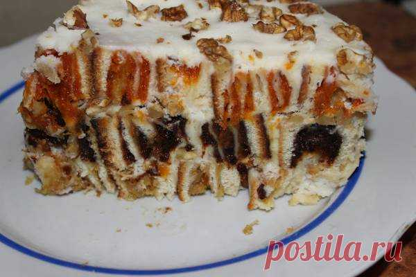 Cake with dried fruits from my mother - the Menu of week