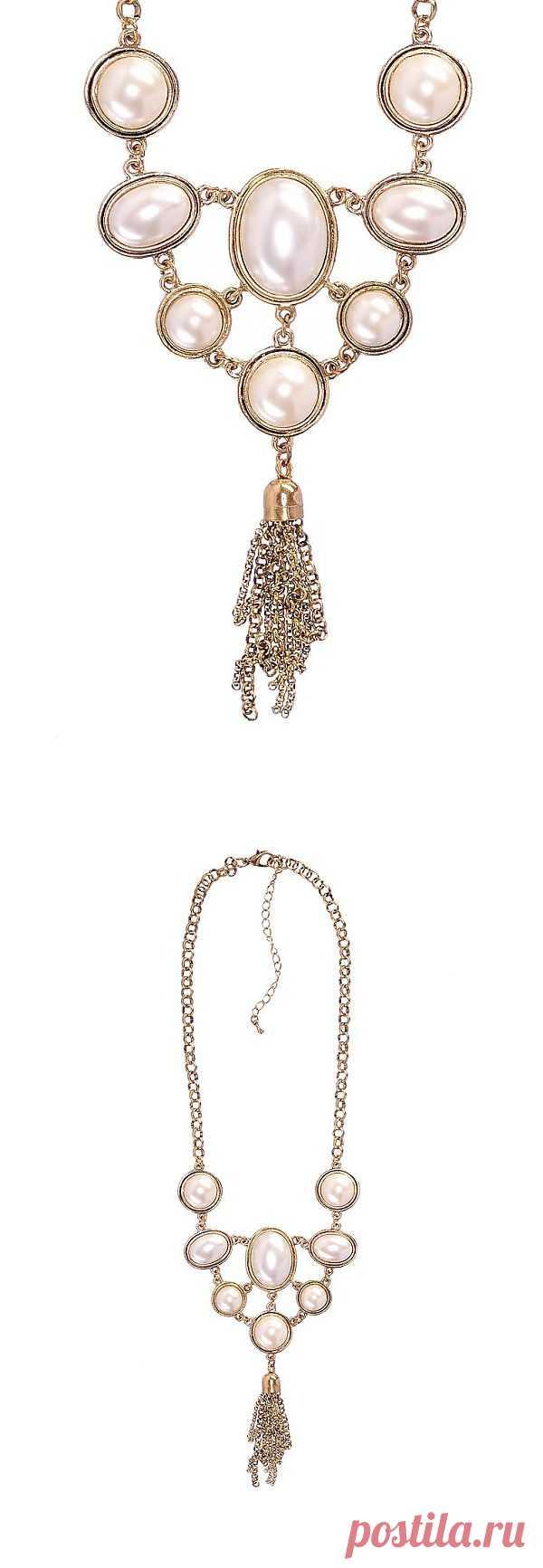 """Элегантное ожерелье в викторианском стиле """"Модные истории"""" - эффектное дополнение вечернего наряда! Купить за 640 рублей."""