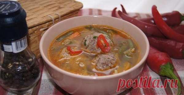 Овощной суп с фрикадельками - Пошаговый рецепт с фото своими руками Овощной суп с фрикадельками - Простой пошаговый рецепт приготовления в домашних условиях с фото. Овощной суп с фрикадельками - Состав, калорийность и ингредиенти вкусного рецепта.