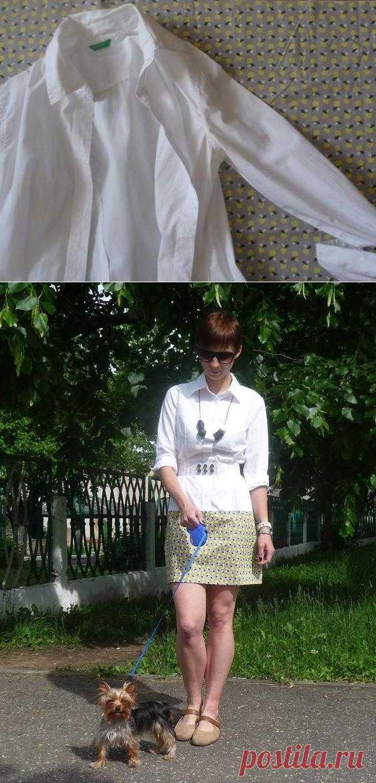 Из рубашки в платье  / Рубашки / Модный сайт о стильной переделке одежды и интерьера