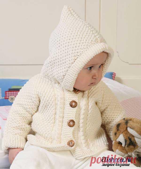 вязание малышу кофточка с капюшоном детская кофточка с капюшоном