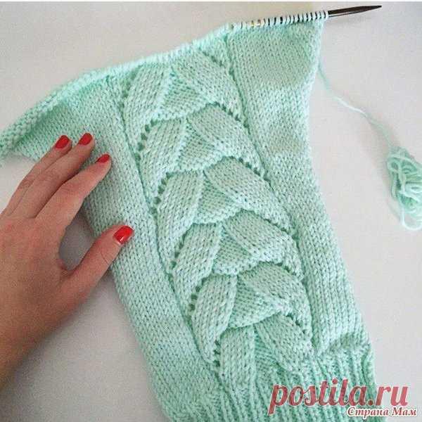 Очень красивая и модная модель свитера/пуловера/кофты | Ниточки-клубочки | Яндекс Дзен