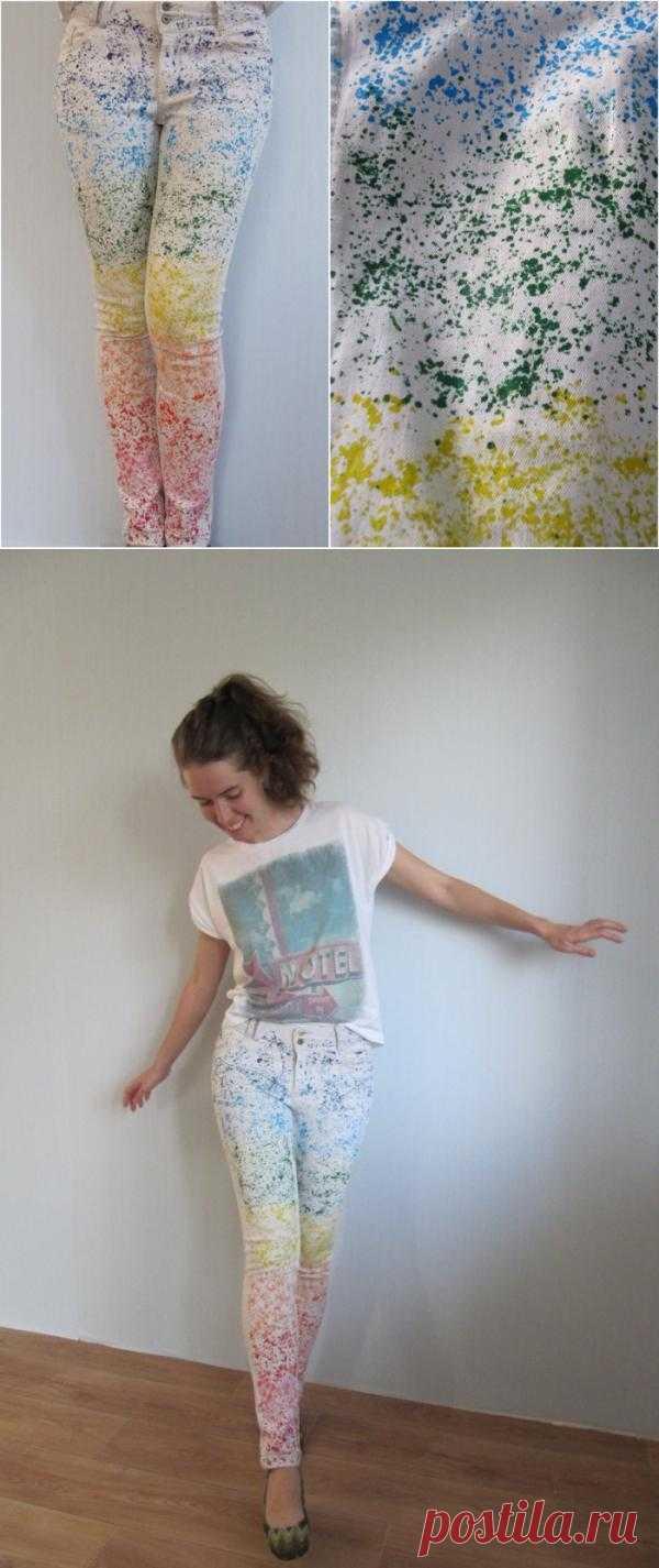 Радужные джинсы (мастер-класс) (люблю PHILIPS) / Пачкаем / Модный сайт о стильной переделке одежды и интерьера