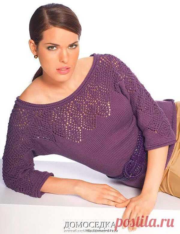 Вязаная блуза | ДОМОСЕДКА