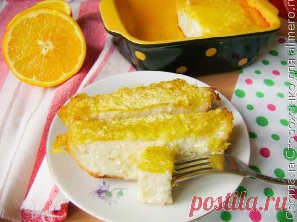Творожная запеканка без яиц с апельсинами