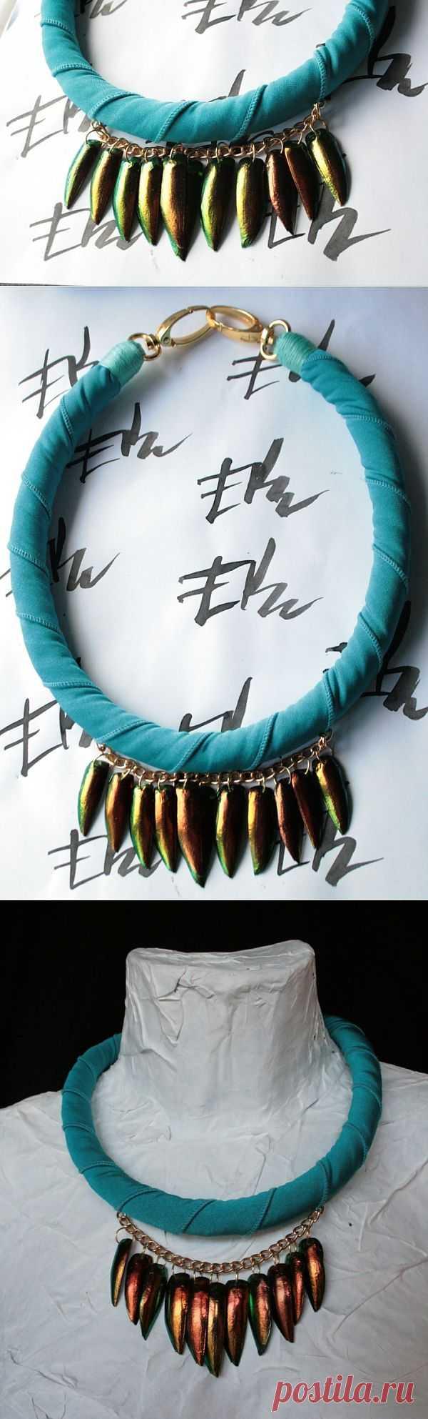 Опыт работы с крыльями жука / Материалы, техники и инструменты / Модный сайт о стильной переделке одежды и интерьера