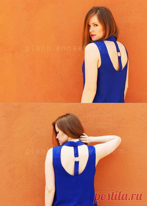 Блузка с вырезом на спине