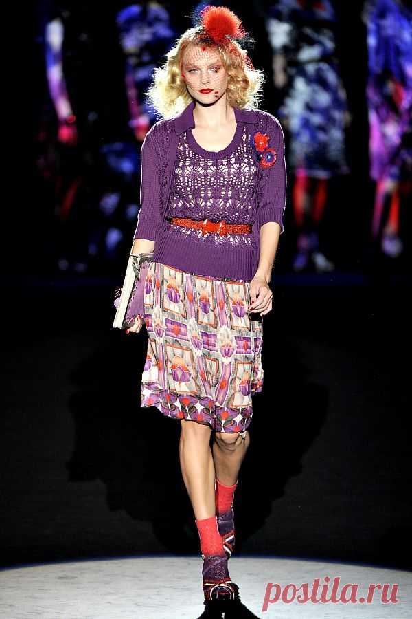 Фиолетовое лето Anna Sui SS 2012- двойка спицами.