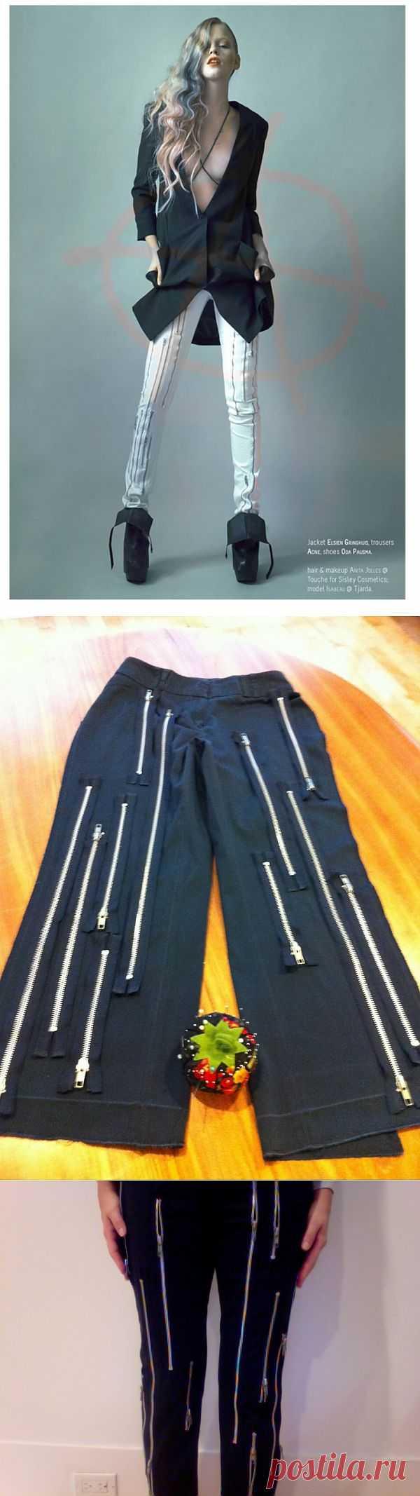 Повтор брюк ACNE (Diy) / Вышивка / Модный сайт о стильной переделке одежды и интерьера