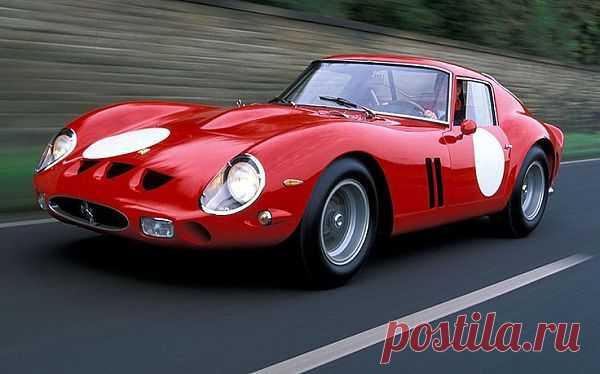 Ferrari GTO 250 - машина с уникальным дизайном, максимальная мощность двигателя - 302 л.с. Авто может развивать скорость до 100 км/ч за 5,8 сек. Самая дорогая из семейства Ferrari - цена $16 млн