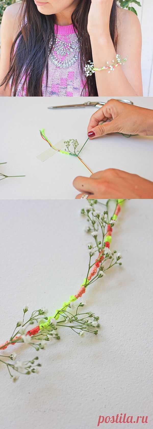 Веночек на руке (Diy) / Цветы / Модный сайт о стильной переделке одежды и интерьера