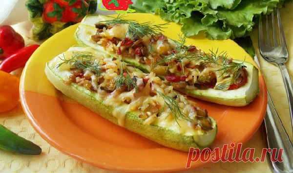 Вкусный рецепт кабачков с фаршем в духовке