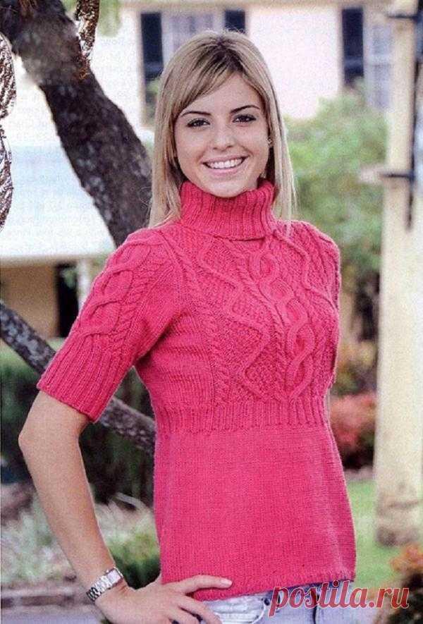Розовая туника с арановым узором | Шкатулочка для рукодельниц
