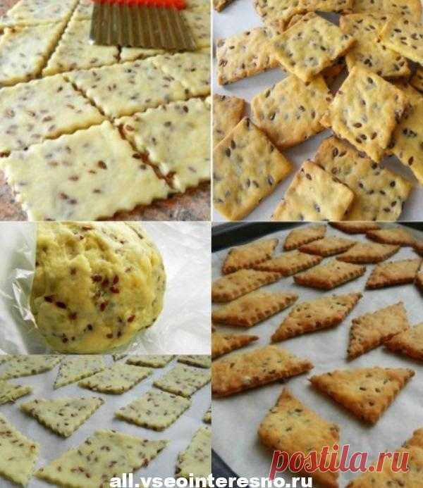 Галетное печенье с семенами льна: вкусное, хрустящее, низкокалорийное! - all