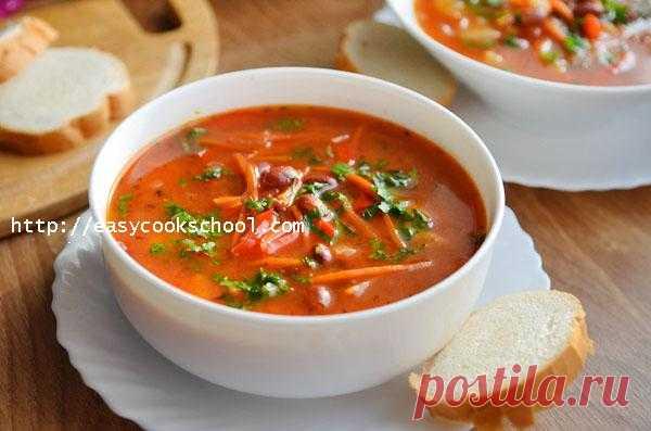Суп с консервированной фасолью рецепт с фото пошагово