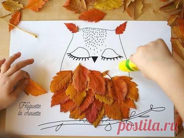 Творим с детьми: идеи простых поделок из листьев – Ярмарка Мастеров