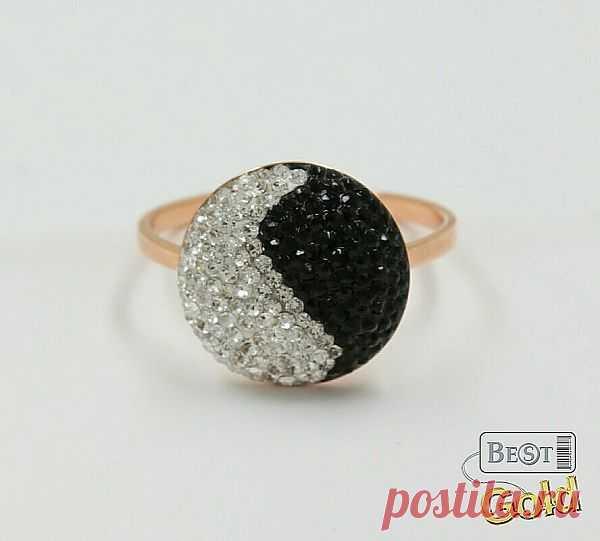 Золотое кольцо с фианитами - 4437 руб