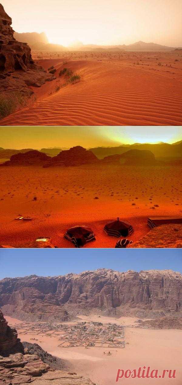 Марсианские пейзажи пустыни Вади-Рам