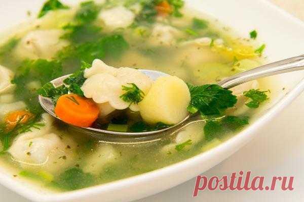 В желтом цвете: Суп с пельменями