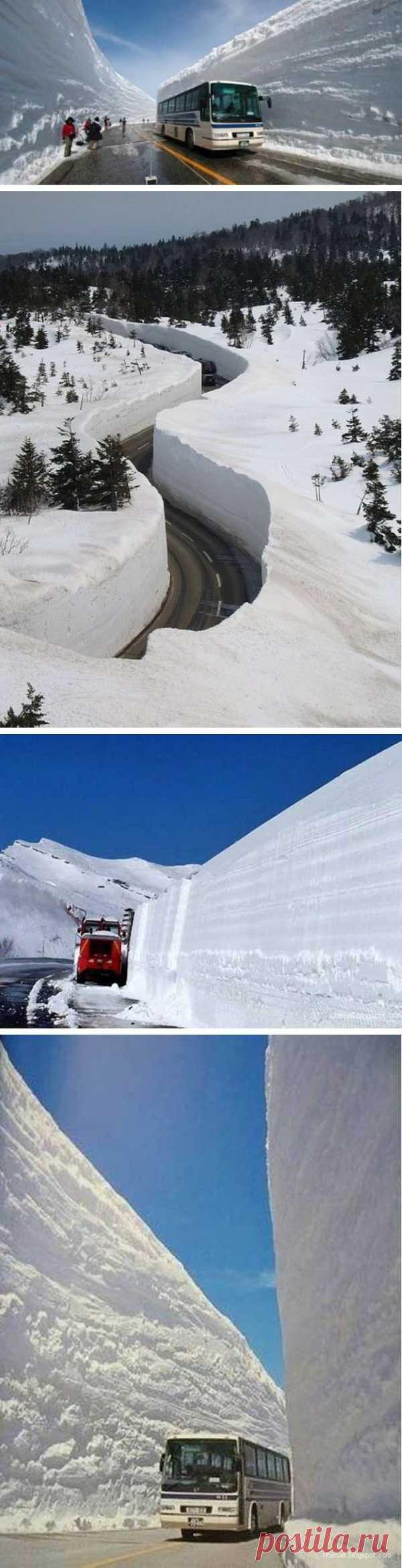 ¿Veíais tanta nieve? Las paredes de nieves en los caminos de Japón.