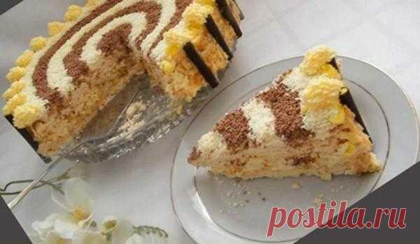 Безе торт с миндалем.
