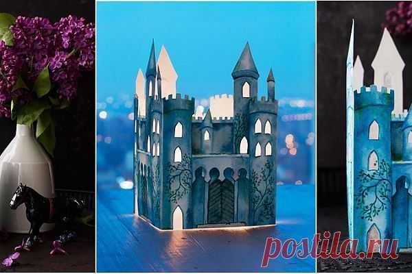 Бумажный подсвечник— светящийся замок