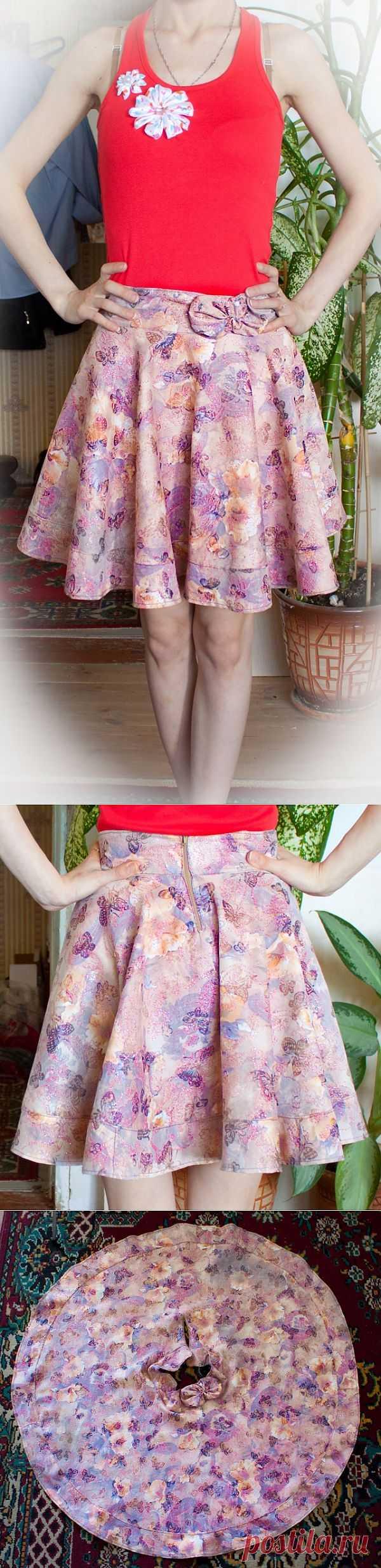 Юбка-солнце / Простые выкройки / Модный сайт о стильной переделке одежды и интерьера
