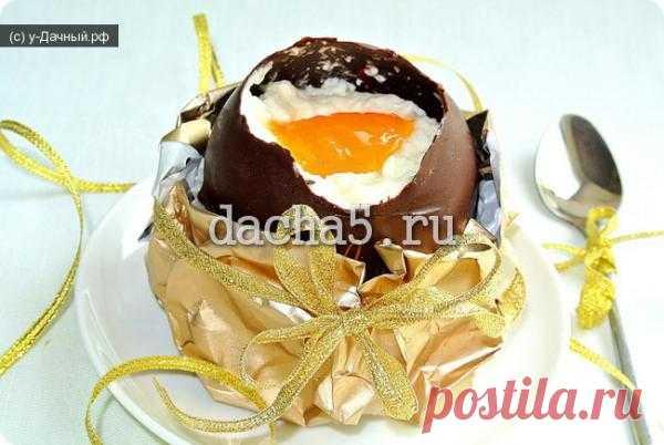 Шоколадные яйца со сливочным муссом (нежный десерт на Пасху).