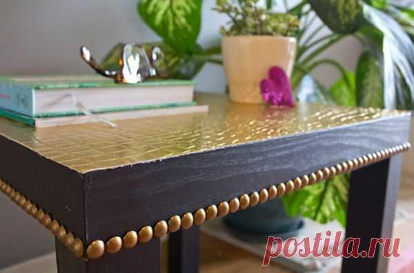 Декорчик столика мебельными гвоздями / Мебель / Модный сайт о стильной переделке одежды и интерьера