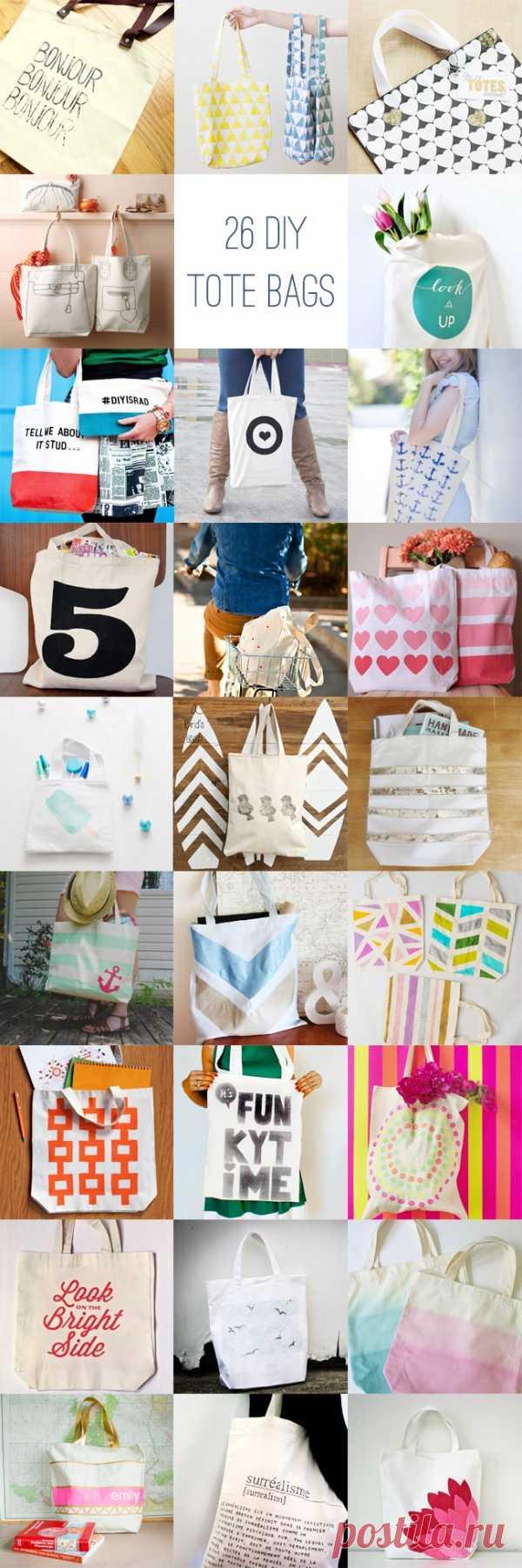 26 вариантов декора для Вашей сумки для покупок