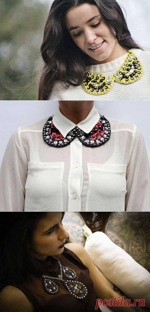Кожаные воротнички (трафик) / Украшения и бижутерия / Модный сайт о стильной переделке одежды и интерьера
