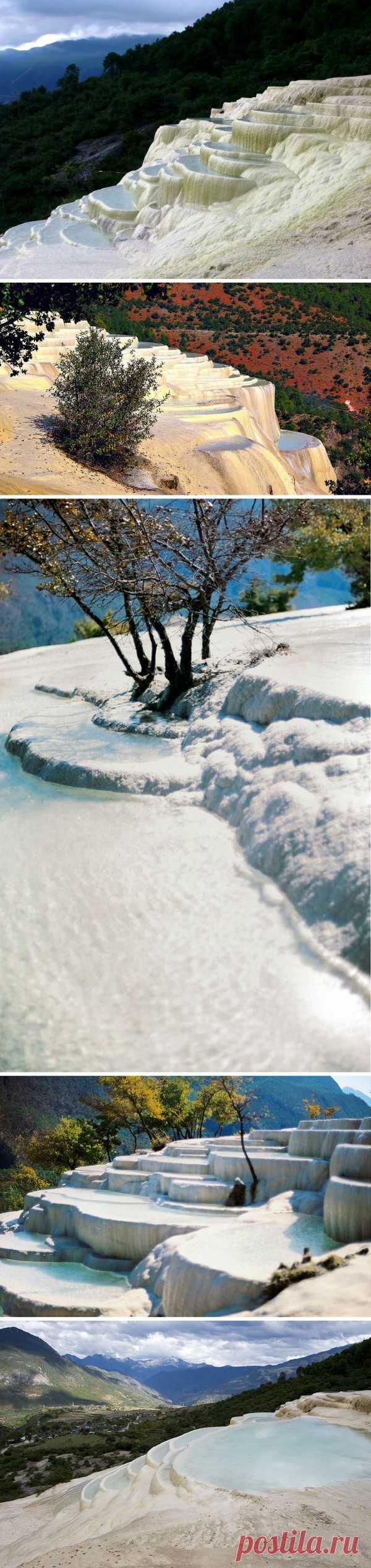 Террасы белой воды у Шангри-Ла, Китай