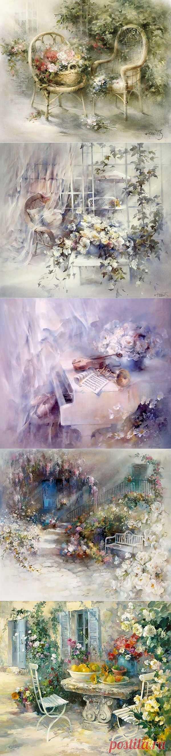 Художник Willem Haenraets. Романтический мир иллюзии-3.
