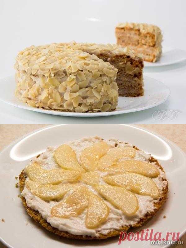 постный грушевый торт