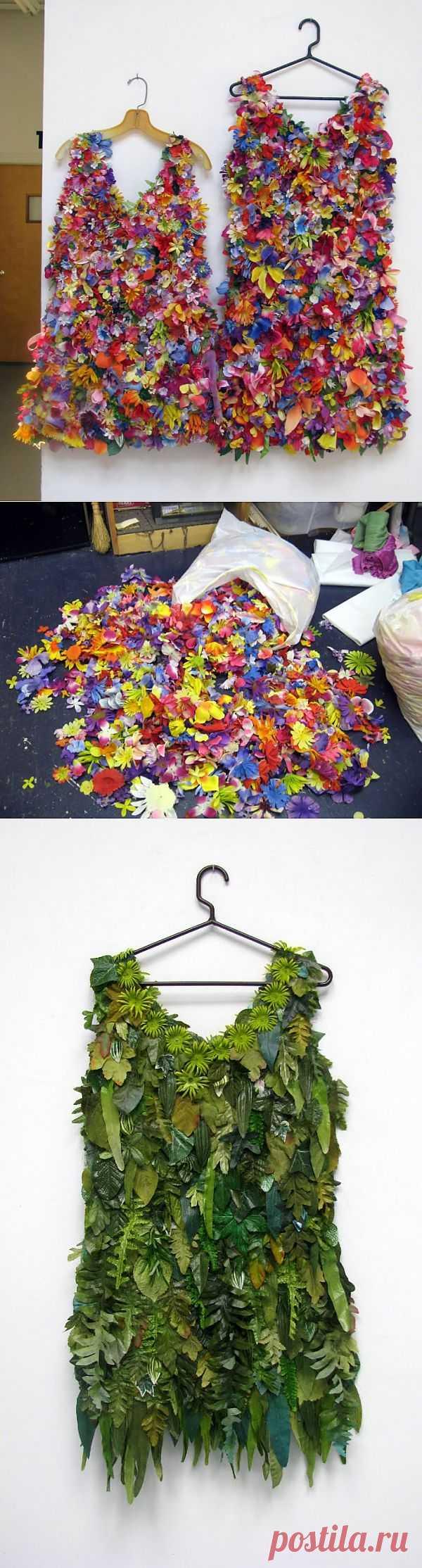 Цветочное платье от Susan Lenz (мастер-класс) / Платья Diy / Модный сайт о стильной переделке одежды и интерьера