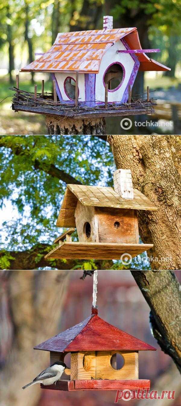 Скворечники: сделай яркий домик для птиц