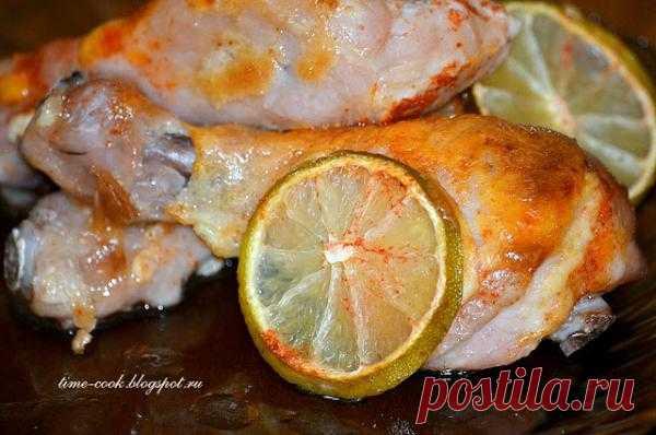 Куриные ножки с лимоном и лаймом.