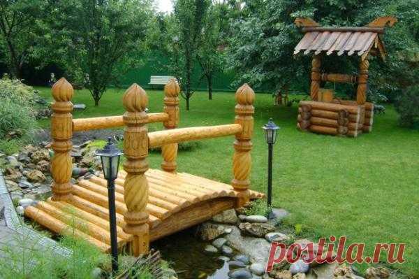 Деревянный мостик – в вашем саду!
